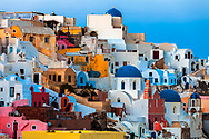 Colorful houses of Oia town