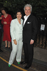 KEN FOLLETT and his wife BARBARA FOLLETT at the annual Sir David & Lady Carina Frost Summer Party in Carlyle Square, London SW3 on 5th July 2007.<br /><br />NON EXCLUSIVE - WORLD RIGHTS