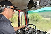 Fireman in a fire truck