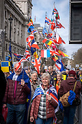 Put It To The People march for a Peoples Vote on 23rd March 2019 in London, United Kingdom. With less than one week until the UK is supposed to be leaving the European Union, the final result still hangs in the balance and protesters gathered in their hundreds of thousands to make political leaders take notice and to give the British public a vote on the final Brexit deal.