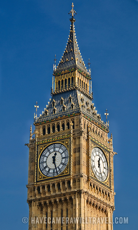 Big Ben on the British Houses of Parliament