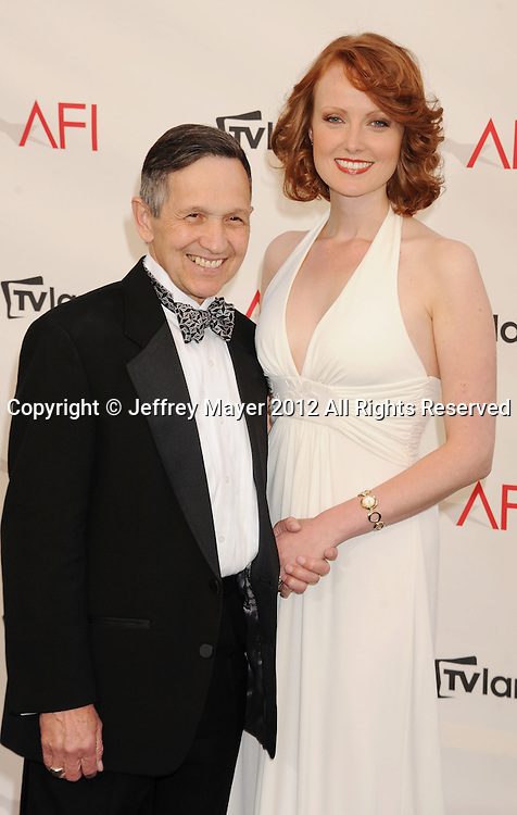 LOS ANGELES, CA - JUNE 07: U.S. Congressman Dennis Kucinich and Elizabeth Kucinich  arrive at the 40th AFI Life Achievement Award honoring Shirley MacLaine at Sony Pictures Studios on June 7, 2012 in Los Angeles, California.