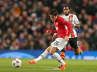 Manchester United's Shinji Kagawa in action against Shakhtar Donetsk