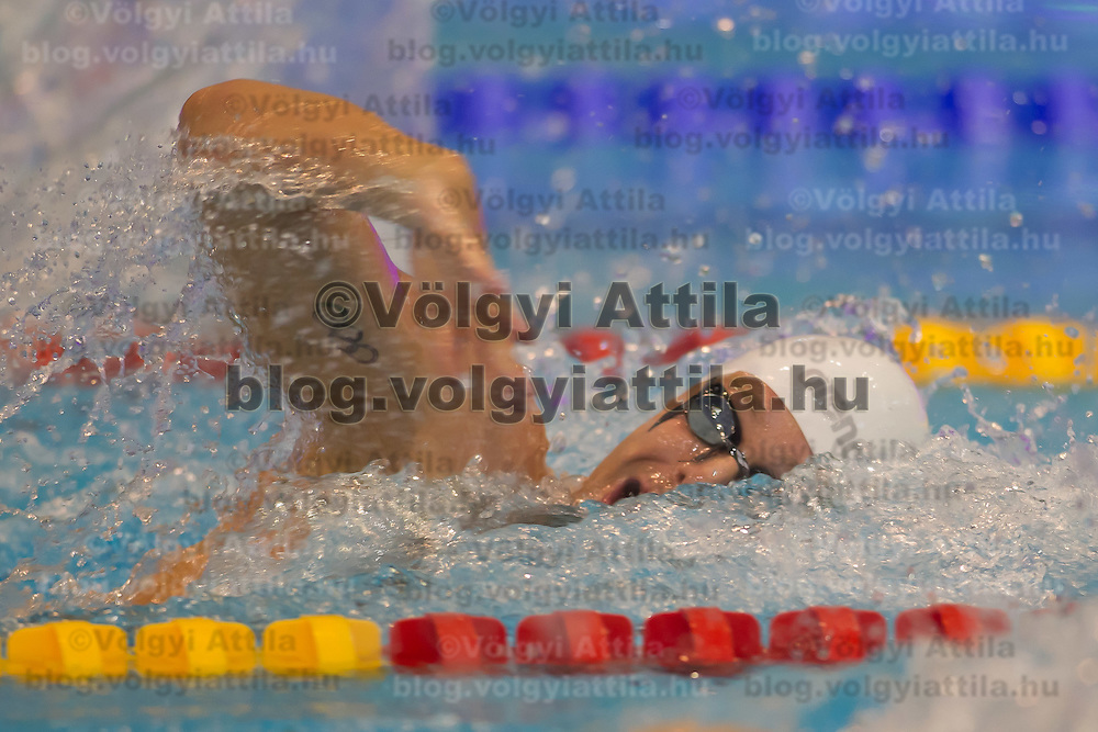 Olympic champion Paul Biedermann of Germany competes in the Men's 200m Freestyle semi-final of the 31th European Swimming Championships in Debrecen, Hungary on May 22, 2012. ATTILA VOLGYI