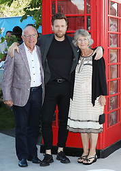 Ewan McGregor and parents James McGregor and Carol McGregor attend the European premiere of Christopher Robin at the BFI Southbank in London.