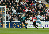 Photo: Kevin Poolman.<br />Coventry City v Sheffield United. Coca Cola Championship. 11/03/2006. <br />Gary McSheffrey (R) scores his goal and Coventry's first.