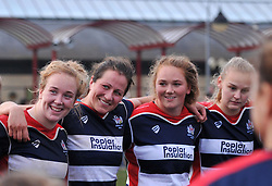 Bristol Ladies in team huddle after defeating Saracens Women at Cleve RFC - Mandatory by-line: Paul Knight/JMP - 30/10/2016 - RUGBY - Cleve RFC - Bristol, England - Bristol Ladies v Saracens Women - RFU Women's Premiership
