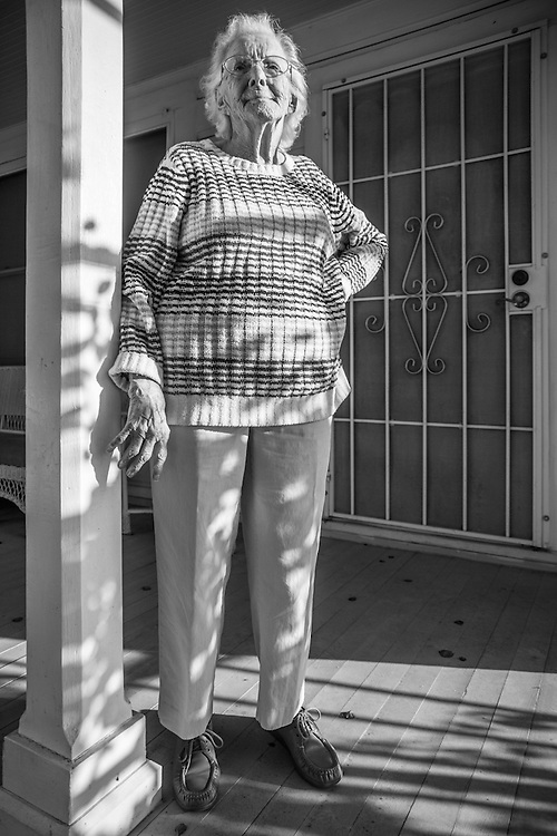 """Calistoga resident Audrey Lattemore turned 99 last month.  After a lifetime of rice farming near Sacramento, Audrey now lives in her older sister's house, a house left to her nephew, Robert Grahn, under the caveat that Audrey would be able to reside there as long as she lives.<br /> <br /> """"I don't think anyone thought I would live this long…longevity runs in my family, but not this much!""""<br /> <br /> Audrey is totally independent.  She gets around well, her hearing is perfect and she is as sharp as anyone half her age.  But, the most impressive fact about Audrey is that she is able to turn out 15 quilts each month for veteran hospitals.  She is proud of her quilts and the fact that she can still contribute at age 99.  rgrahn3@gmail.com  (Bob)"""