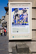 Poster for exhibition of local society of artists at the Victoria Art gallery, Bath, Somerset, England