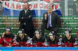 Todd McEllan, head coach of Canada during Ice Hockey match between Canada and Russia at Final game of 2015 IIHF World Championship, on May 17, 2015 in O2 Arena, Prague, Czech Republic. Photo by Vid Ponikvar / Sportida