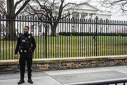 Police in front of the White House in Washington. From a series of travel photos in the United States. Photo date: Thursday, March 29, 2018. Photo credit should read: Richard Gray/EMPICS