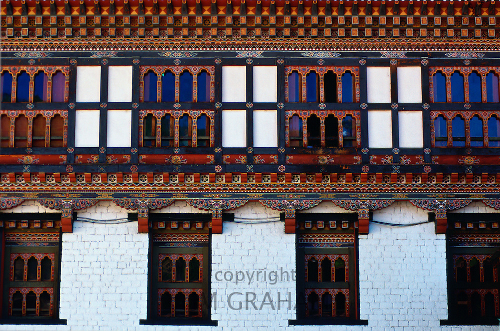 Taschichho Dzong, home of Government, Royal Palace and religious centre in Thimpu, Bhutan