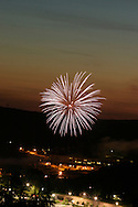 Woodbury fireworks seen from Route 6...July 3, 2004.