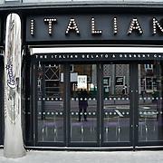 During the coronavirus in UK lockdown Creams Italian close, at Walthamstow Square,on 28 March 2020 London.