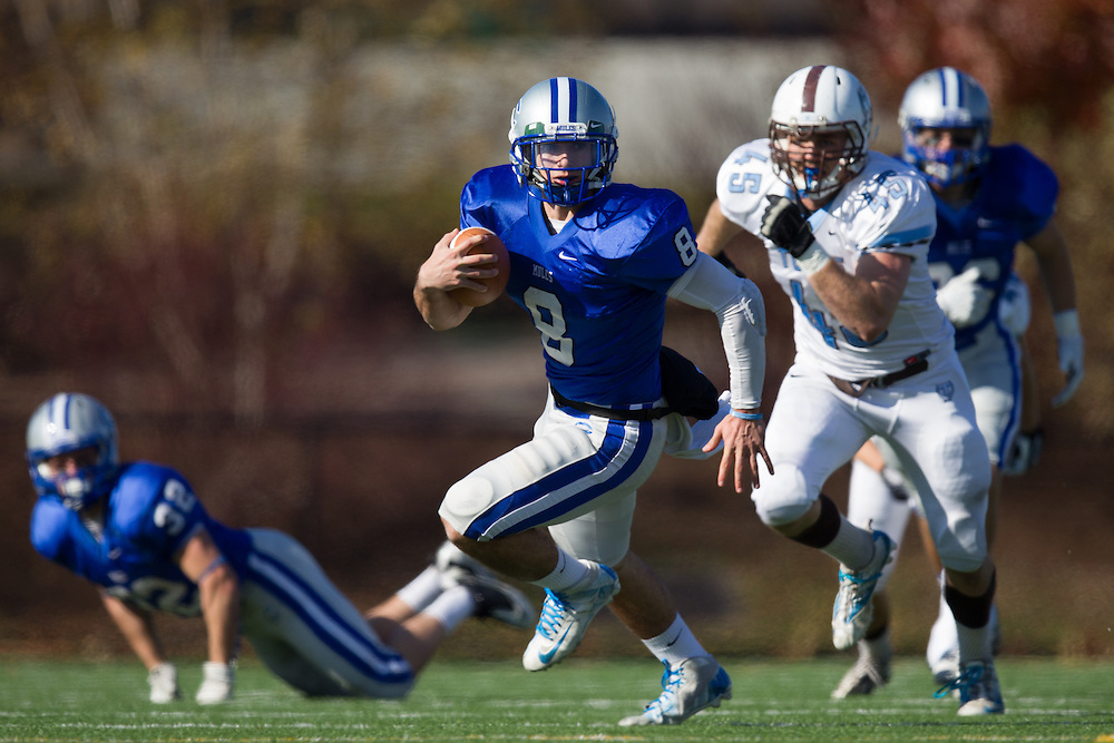 Justin Ciero, of Colby College, during a NCAA Division III football game on November 2, 2013 in Waterville, ME. (Dustin Satloff/Colby College Athletics)