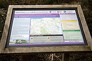 Information board open access land Suffolk Coast and Heaths