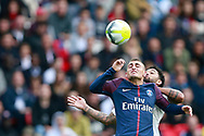 Paris Saint Germain's Italian midfielder Marco Verratti controls the ball during the French Championship Ligue 1 football match between Paris Saint-Germain and Girondins de Bordeaux on September 30, 2017 at the Parc des Princes stadium in Paris, France - Photo Benjamin Cremel / ProSportsImages / DPPI
