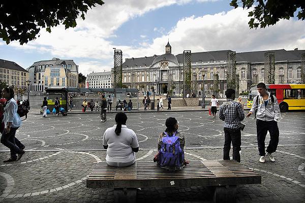 Belgie, Luik, 8-8-2010Straatbeeld in het centrum van de stad. Het bisschoppelijk paleis.Foto: Flip Franssen/Hollandse Hoogte
