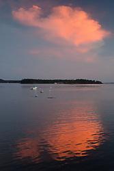 Sunset Cloud Over Nautilus Island, Castine, Maine, US