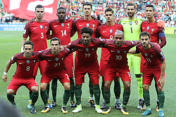 August 31, 2017 - Porto, Portugal - Portugal's starter team before the 2018 FIFA World Cup qualifying football match between Portugal and Faroe Islands at the Bessa XXI stadium in Porto, Portugal on August 31, 2017. (Credit Image: © Pedro Fiuza/NurPhoto via ZUMA Press)