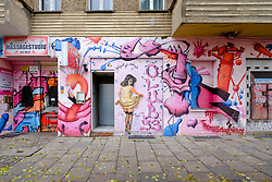 exterior of sex club on Danziger Strasse i n Prenzlauer Berg in Berlin Germany
