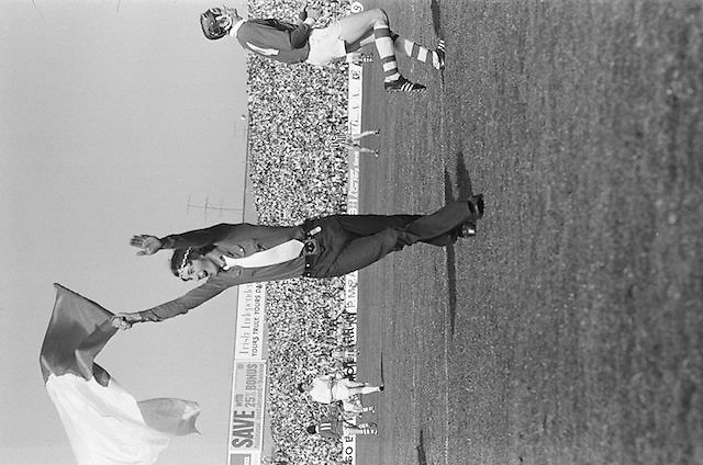 Kilkenny supports on the pitch waving a flag during at the All Ireland Senior Hurling Final, Cork v Kilkenny in Croke Park on the 3rd September 1972. Kilkenny 3-24, Cork 5-11.