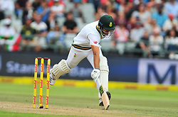 Cape Town-180324 AidaN Markram  getting his 50 in the second innings of South Africa against  Australian on day 3 of the Sunfoil cricket test at Newlands cricket stadium. .Photograph:Phando Jikelo/African News Agency/ANA