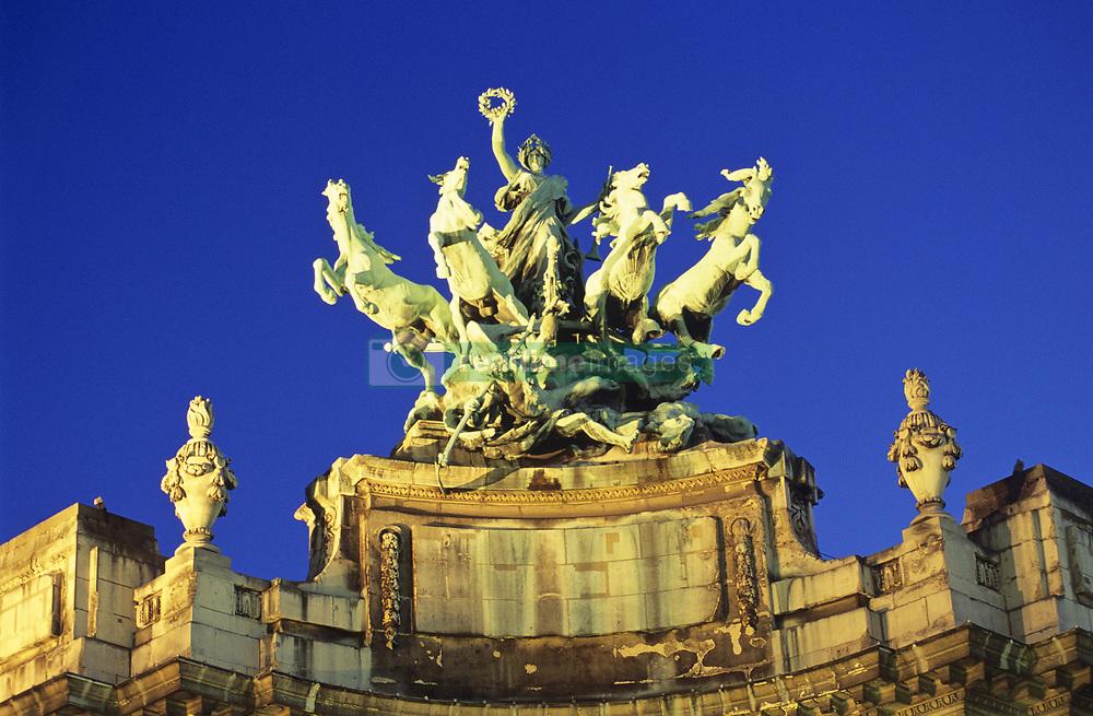 July 21, 2019 - Statue On Top Of Grand Palace, Paris, France (Credit Image: © Bilderbuch/Design Pics via ZUMA Wire)