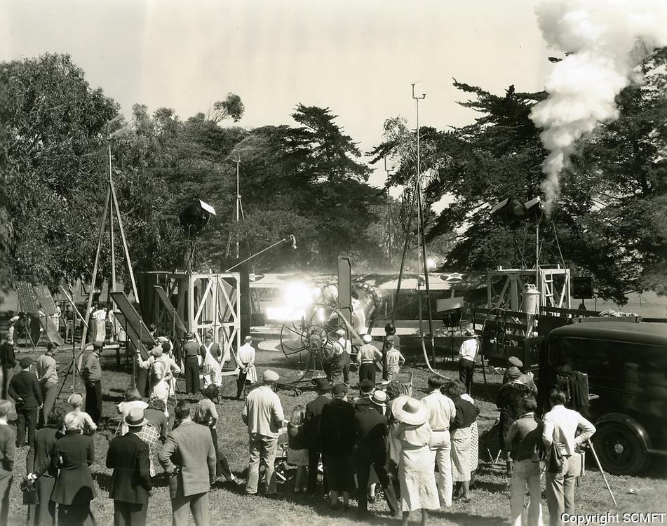 1937 Filming Wings Over Honolulu at Universal Studios