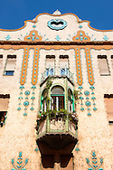 Deutsch Palace - Dozsa Gy. u.2 - Eclectic building (1900-1901) with Zsolnay ceramics, Szeged, Hungary .<br /> <br /> Visit our HUNGARY HISTORIC PLACES PHOTO COLLECTIONS for more photos to download or buy as wall art prints https://funkystock.photoshelter.com/gallery-collection/Pictures-Images-of-Hungary-Photos-of-Hungarian-Historic-Landmark-Sites/C0000Te8AnPgxjRg