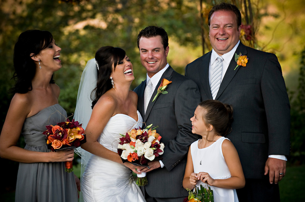 A laugh during post-ceremony portraits.