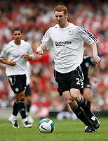 Photo: Steve Bond.<br />Arsenal v Derby County. The FA Barclays Premiership. 22/09/2007. Stephen Pearson tries to salvage something