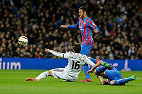 Real Madrid´s Lucas silva and Levante UD´s  during 2014-15 La Liga match between Real Madrid and Levante UD at Santiago Bernabeu stadium in Madrid, Spain. March 15, 2015. (ALTERPHOTOS/Luis Fernandez)