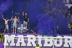 Viole, supporters of Maribor during 1st Leg Football match between NK Maribor (SLO) and Rosenborg BK (NOR) in Third qualifying round of UEFA Champions League 2019/20, on August 7, 2019, in Stadium Ljudski vrt, Maribor, Slovenia. Photo by Milos Vujinovic / Sportida