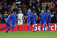 Italy's Federico Di Francesco celebrates scoring his sides second goal during the Under 21 International Friendly match at the St Mary's Stadium, Southampton. Picture date November 10th, 2016 Pic David Klein/Sportimage