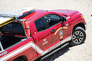 Red Toyota Huntington Beach Lifeguard Fire Truck