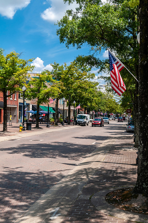 Hay Street in Downtown Fayetteville, North Carolina on Saturday, August 14, 2021. Copyright 2021 Jason Barnette