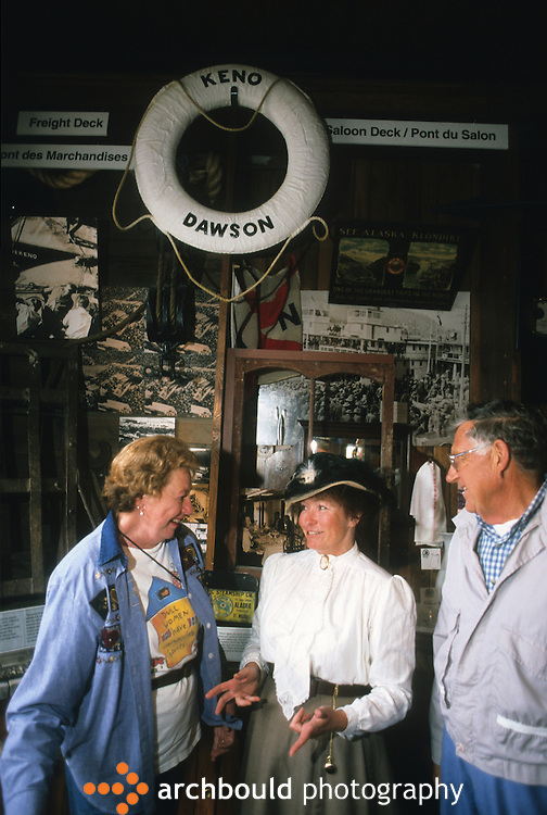 Visitors in Dawson City Yukon