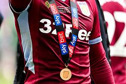 Conor Hourihane of Aston Villa wears his Sky Bet Championship Playoff Final winners medal - Mandatory by-line: Robbie Stephenson/JMP - 27/05/2019 - FOOTBALL - Wembley Stadium - London, England - Aston Villa v Derby County - Sky Bet Championship Play-off Final