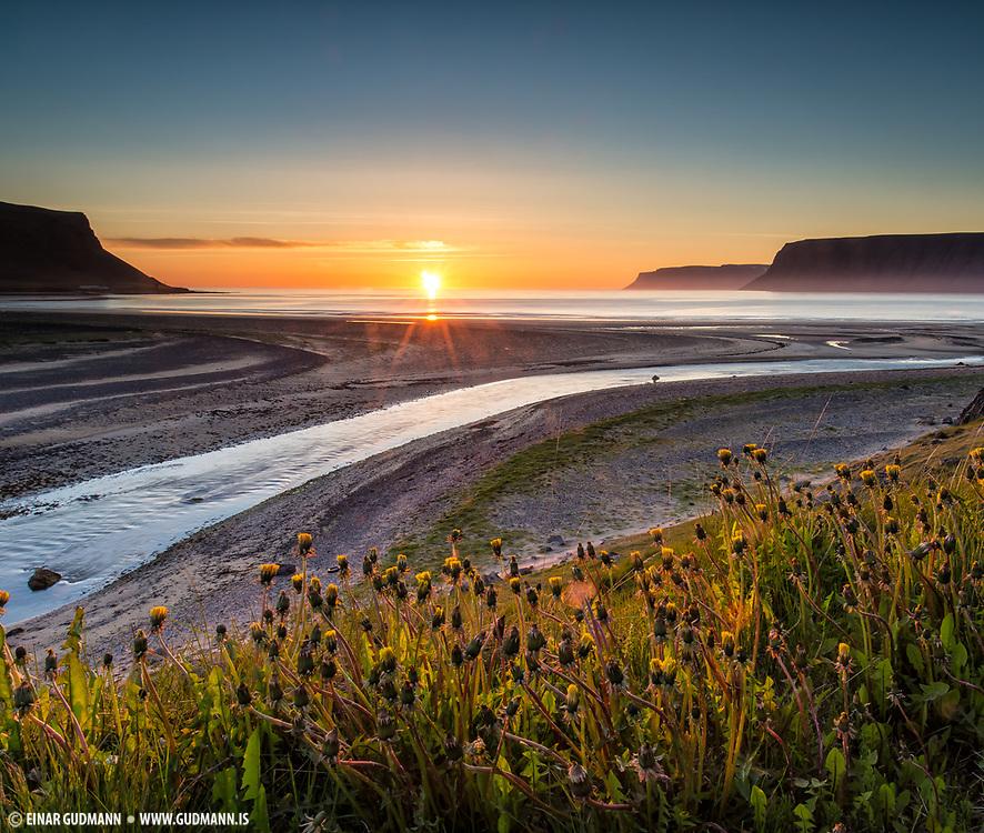 Örlygshöfn near Patreksfjörður in Westfjords of Iceland.