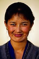 Woman, Hotel Mt. Pandim, Pemayangtse, West Sikkim, India