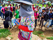 05 JULY 2017 - POIPET, CAMBODIA: A Cambodian woman in Poipet sells Thai SIM cards to Cambodian migrant workers moving to Thailand. The Thai government proposed new rules for foreign workers recently. The new rules include fines of between 400,000 and 800,00 Thai Baht ($12,000 - $24,000 US) and jail sentences of up to five years for illegal workers and people who hire illegal workers. Hundreds of companies fired their Cambodian and Burmese workers and tens of thousands of workers left Thailand to return to their countries of origin. Employers and human rights activists complained about the severity of the punishment and sudden implementation of the rules. On Tuesday, 4 July, the Thai government suspended the new rules for 180 days and the Cambodian and Myanmar governments urged their citizens to stay in Thailand, but the exodus of workers continued through Wednesday.     PHOTO BY JACK KURTZ