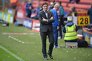 Karel Fraeye, the Charlton Athletic Interim Head Coach looking on before k/o. Skybet football league championship match, Charlton Athletic v Sheffield Wednesday at The Valley  in London on Saturday 7th November 2015.<br /> pic by John Patrick Fletcher, Andrew Orchard sports photography.