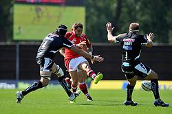 Olly Barkley (London Welsh) kicks for territory - Photo mandatory by-line: Patrick Khachfe/JMP - Mobile: 07966 386802 06/09/2014 - SPORT - RUGBY UNION - Oxford - Kassam Stadium - London Welsh v Exeter Chiefs - Aviva Premiership