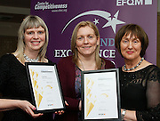 Dolores Tiernan of Leitirm CIS with Deirdre McGauran and Noreen McGowan of Leitrim Mabs at the EFQM Ireland Excellence Awards ceremony in association with Fáilte Ireland and the Centre for Competitiveness at the Galway Bay Hotel on Friday night. Photo:- Andrew Downes Photography / No Fee