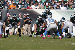 Philadelphia Eagles guard Danny Watkins (63) during the NFL game between the Detroit Lions and the Philadelphia Eagles on Sunday, October 14th 2012 in Philadelphia. The Lions won 26-23 in Overtime. (Photo by Brian Garfinkel)