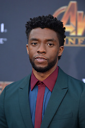 Chadwick Boseman attends the World Premiere of Avengers: Infinity War on April 23, 2018 in Los Angeles, Ca, USA. Photo by Lionel Hahn/ABACAPRESS.COM