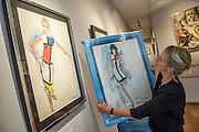 UNSEEN AND REDISCOVERED works by the former Canadian war artist, fashion illustrator & modern painter Irwin 'Bud' Crosthwait (1914 – 1981), go on sale in a selling exhibition by GrayMCA in London this September. The exhibition will present the most extensive selection of works by Crosthwait in 45 years, from across Europe and North America, including many works that have never before been on public view. The exhibition will run from 17-22nd September, 2015 and will feature a total of more than 60 original works ranging in price from £350-£10,000.
