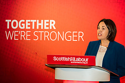 Pictured: Kezia Dugdale<br /> <br /> Scottish Labour leader Kezia Dugdale and deputy leader Alex Rowley had t make swift changes to their respective speeches forllowing the announcement of a General Election in June just before they headed to the lectern at Edinburgh's Dynamic Earth to launch Scottish Labour's council election campaign today. <br /> Ger Harley | EEm 18 April 2017