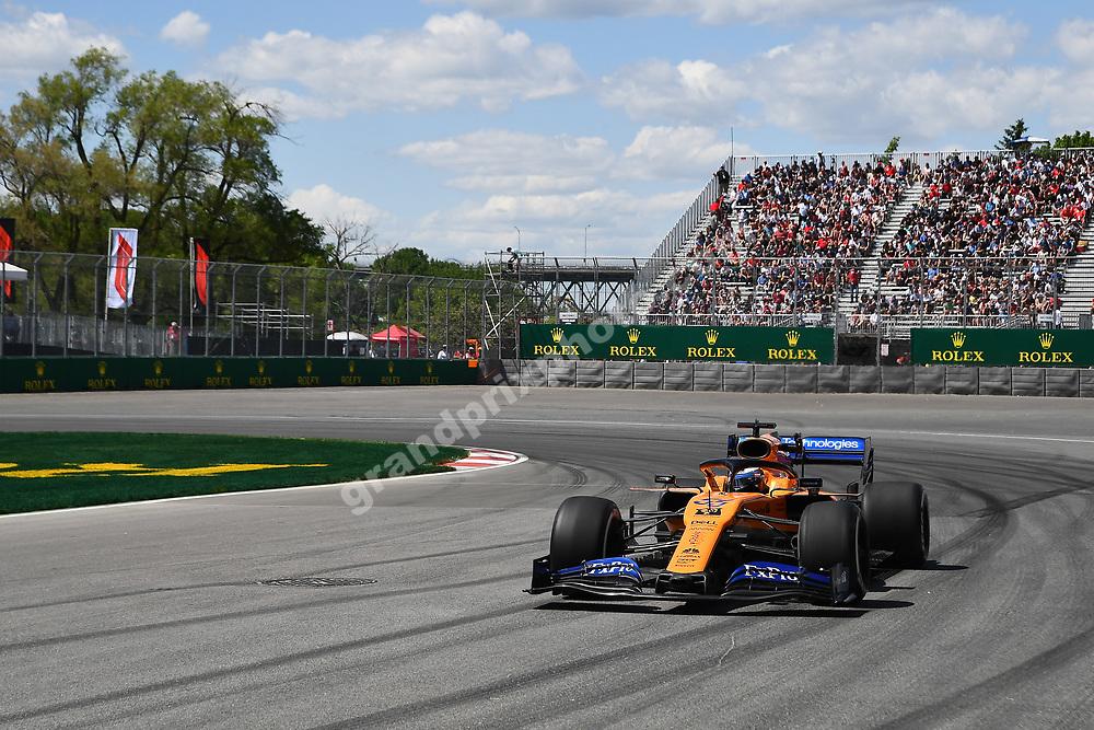 Carlos Sainz Jr (McLaren-Renault) during practice for the 2019 Canadian Grand Prix in Montreal. Photo: Grand Prix Photo
